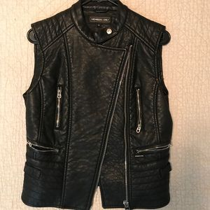 Members Only - Faux leather vest